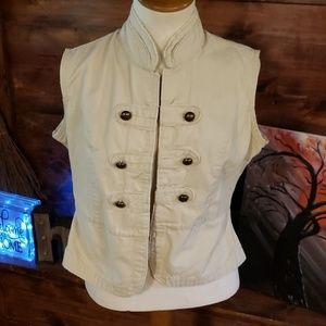 Tan Military vest juniors XL